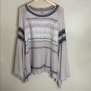 NWT free people tan sweater